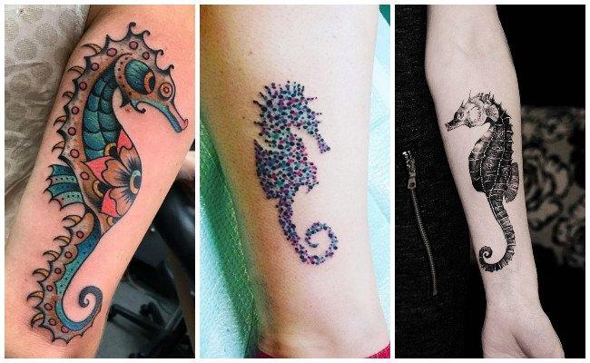 Tatuajes de caballitos de mar para parejas