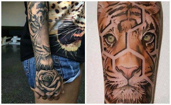 Tatuajes de cabezas de tigres