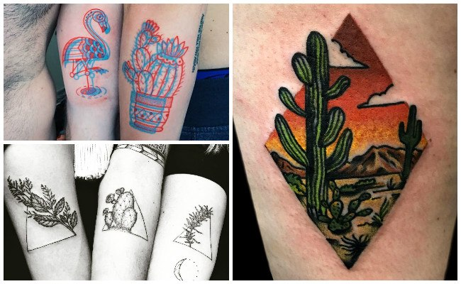 Tatuajes de cactus en 3D