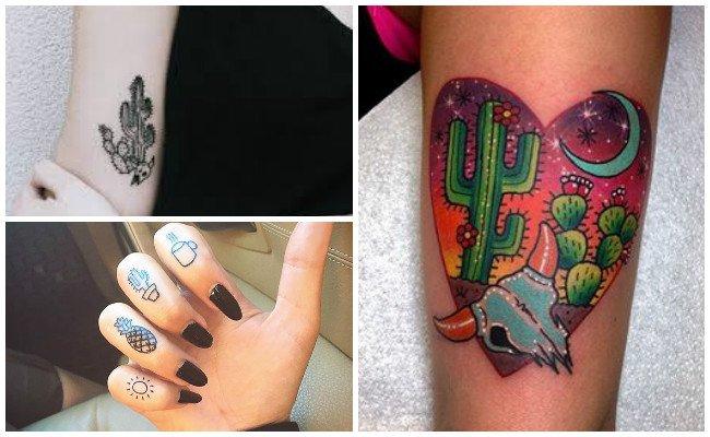 Tatuajes de cactus en el brazo