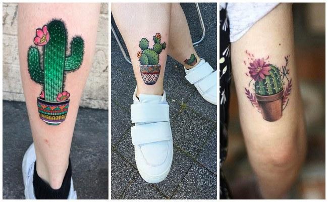 Tatuajes de cactus con dibujos