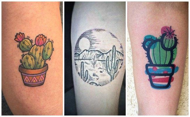Tatuajes de cactus y diseños