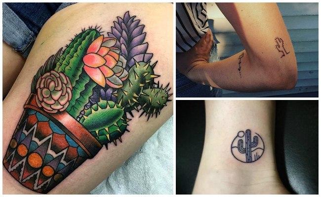 Tatuajes de cactus en el hombro