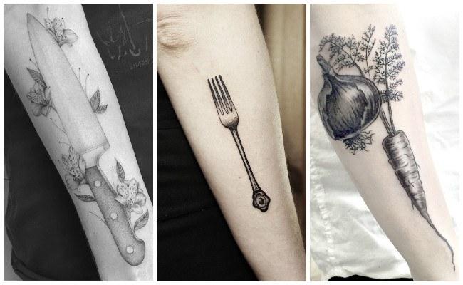 Tatuajes de chef en el brazo