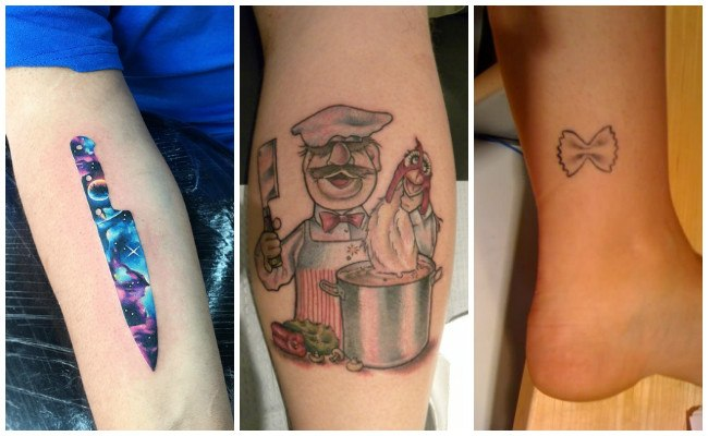 Tatuajes de chef con comida