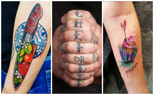 Tatuajes de chef en la mano