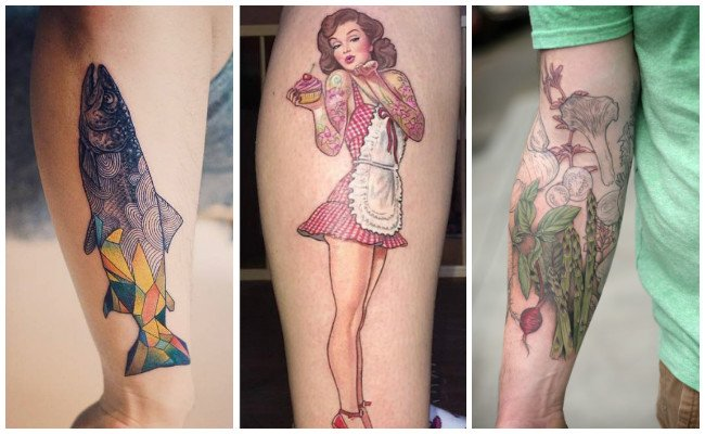 Tatuajes de chef pin up