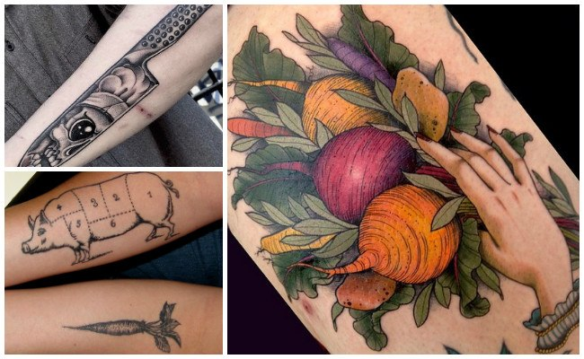 Tatuajes de chef con utensilios