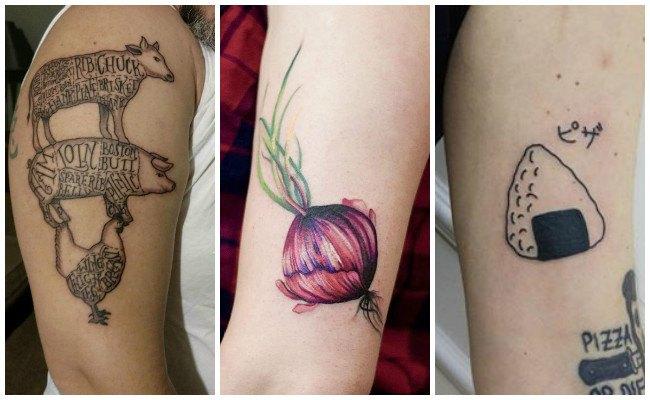 Tatuajes de chef con verduras