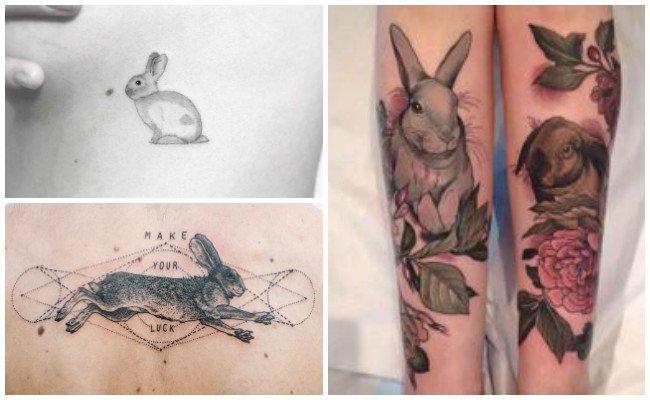 Tatuajes de conejos en mujeres