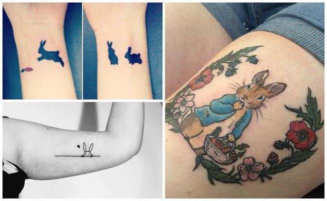 Tatuajes de conejos en la muñeca