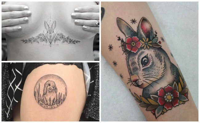Tatuajes de conejos tiernos