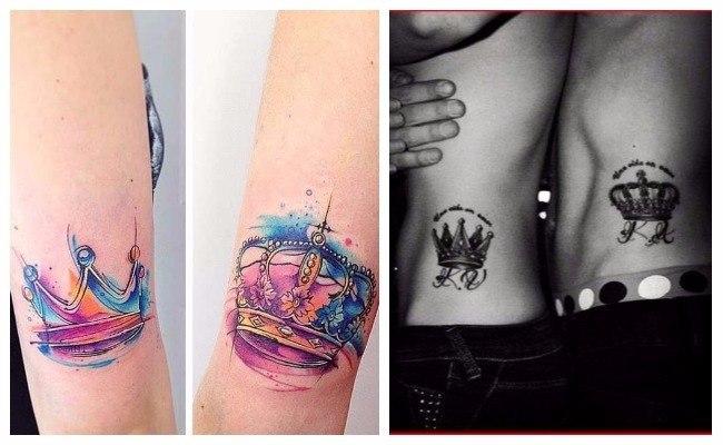 Tatuajes de coronas y amistad