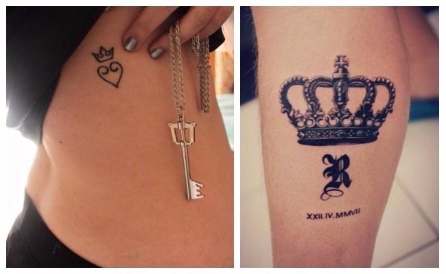 Tatuajes de coronas bonitas