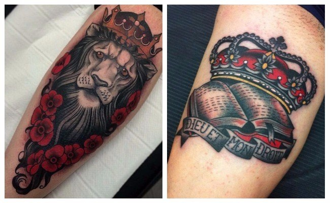 Tatuajes de coronas a color