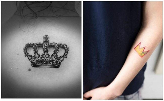 Tatuajes de coronas de rey para hombres