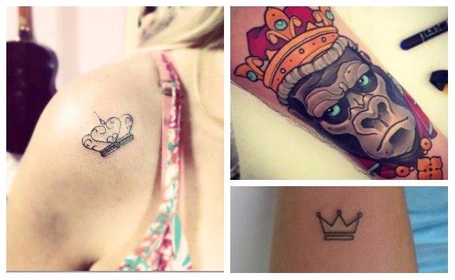 Tatuajes de coronas femeninas
