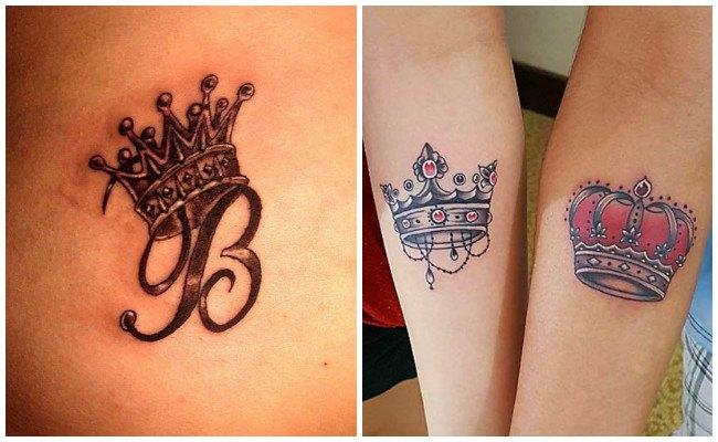 Tatuajes de coronas para mujer