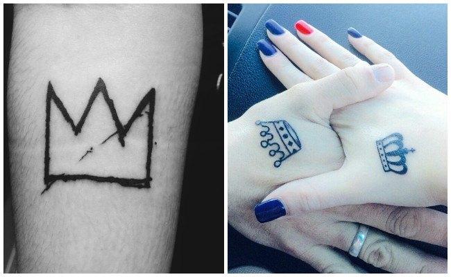 Tatuajes de coronas sencillas
