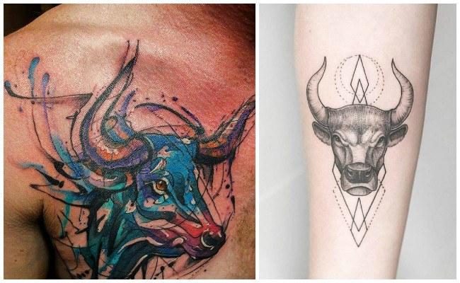 Tatuajes de cráneos de toros