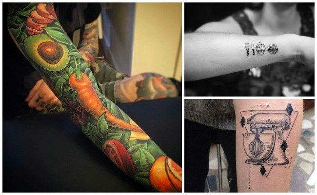 Tatuajes de cuchillos del chef