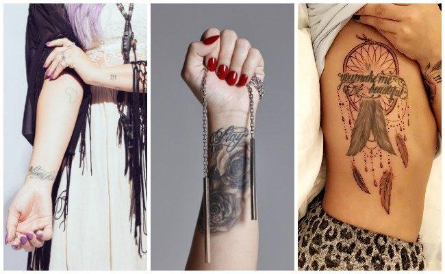 Tatuajes de demi lovato en los dedos
