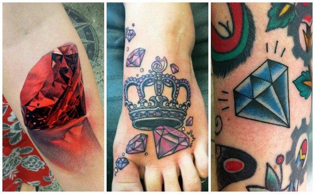Tatuajes de diamantes en 3d