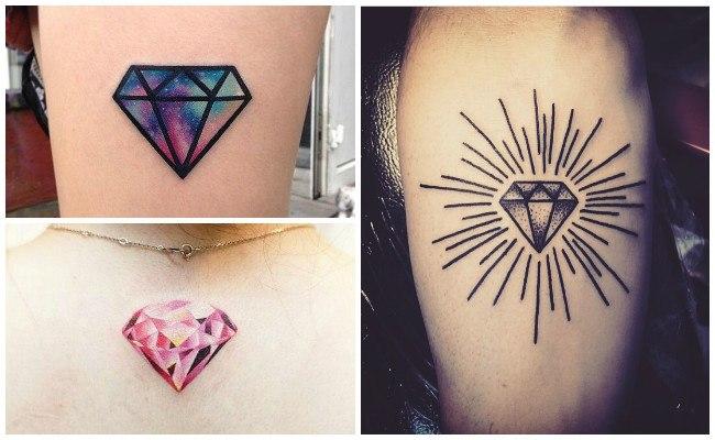 Tatuajes de diamantes y coronas