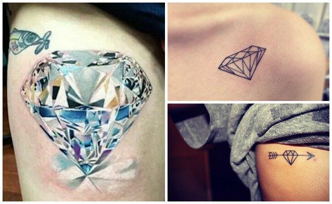 Tatuajes de diamantes en el dedo