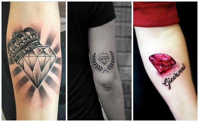 Tatuajes de diamantes en los dedos