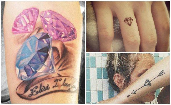 Tatuajes de diamantes para mujeres