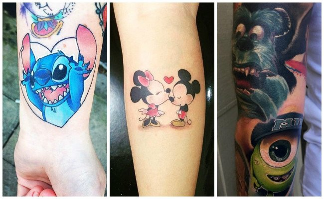 Tatuajes de disney en el brazo