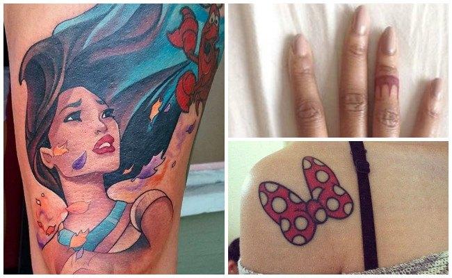 Tatuajes de disney en el cuello