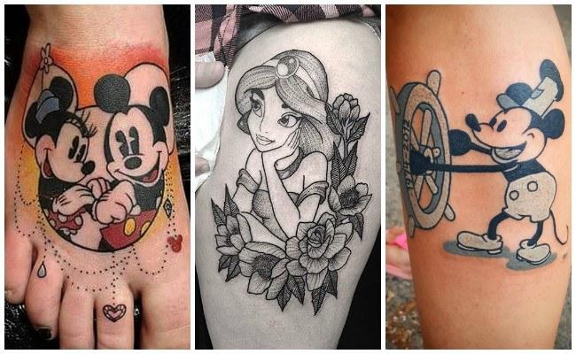 Tatuajes de disney en la espalda