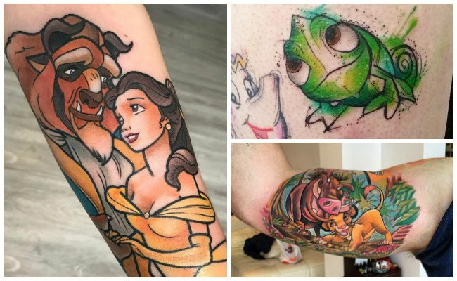 Tatuajes de disney en el tobillo