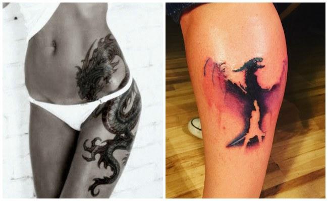 Tatuajes de dragones en el brazo