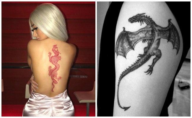Tatuajes de dragones en el pecho