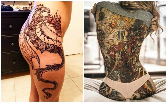 Tatuajes de dragones pequeños