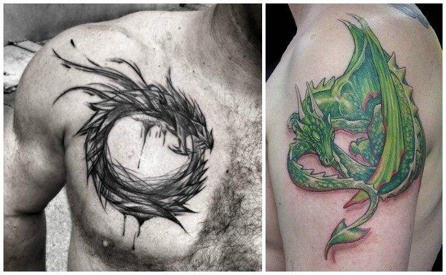 Tatuajes de dragones tribales