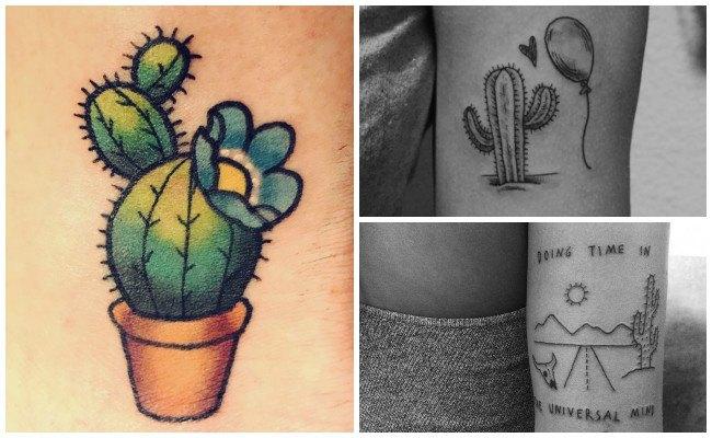 Tatuajes de flor de cactus