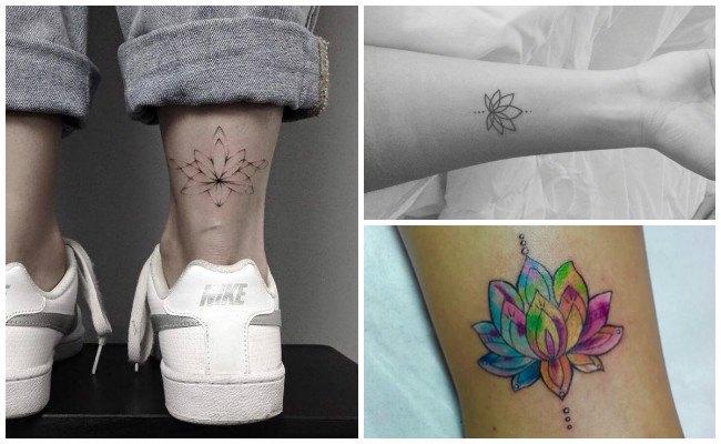 Tatuajes de flor de loto para mujeres