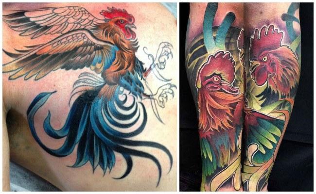 Tatuajes de gallos en 3d