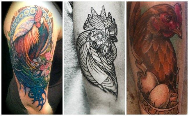 Tatuajes de gallos blancos