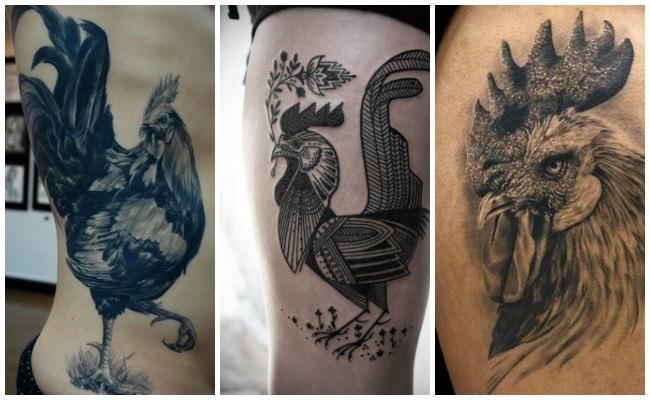 Tatuajes de gallos en el brazo