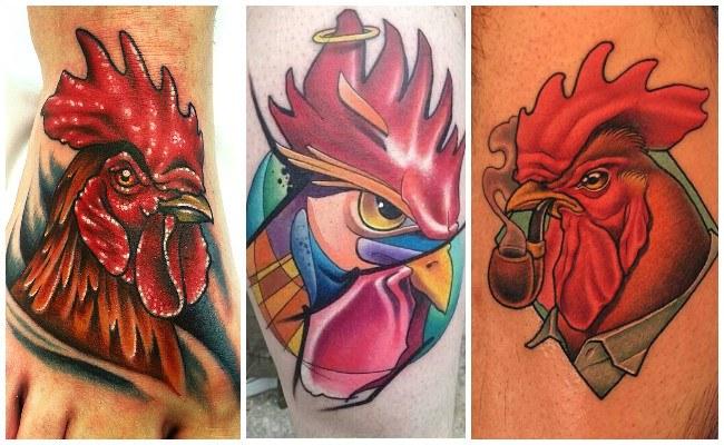 Tatuajes de gallos chinos