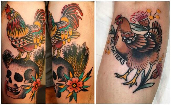 Tatuajes de gallos de combate
