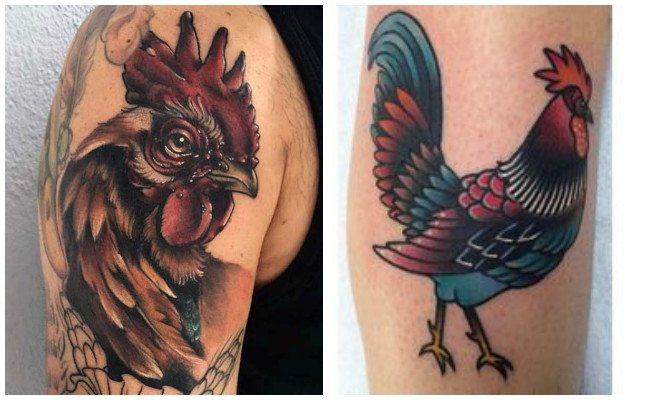 Tatuajes de gallos de riña