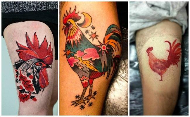 Tatuajes de gallos en mujeres