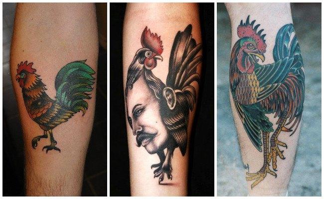 Tatuajes de gallos con fotos
