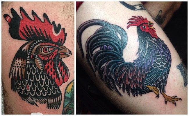 Tatuajes de gallos mexicanos